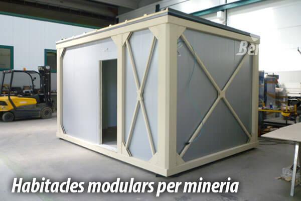 Habitacles modulars prefabricats per mineria